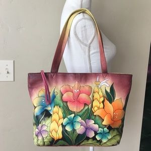 Anna By Anushka Hand Painted Leather Purse Bag